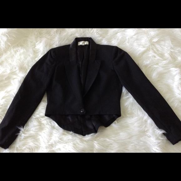 Vintage Christian Dior Black Tuxedo Blazer Size 6